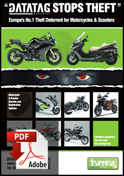 Datatag Motorcycle Flyer