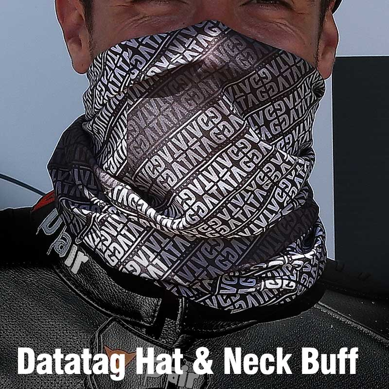 1 x Datatag branded hat and neck scarf.