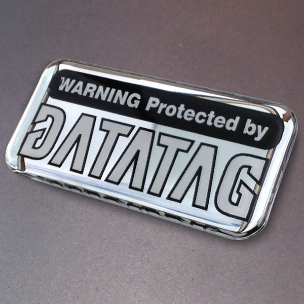 Datatag Domed Resin Warning Label