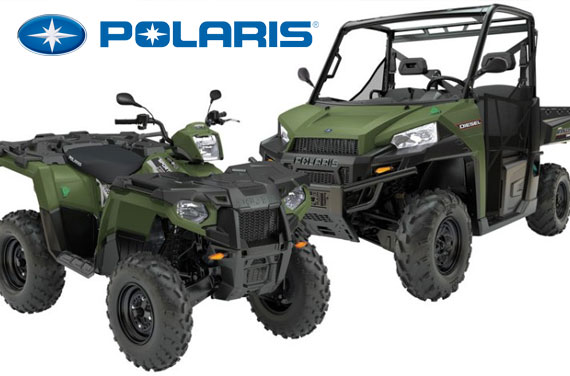 POLARIS ATV AND SIDE-BY-SIDE VEHICLES FITTED WITH THE CESAR ATV SYSTEM