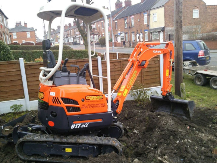 Cesar Helps Cornes Mini Digger Hire Company